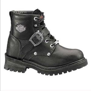 Harley-Davidson Faded Glory Black Motorcycle Boots